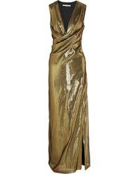 Diane von Furstenberg Isadora Silk-blend Lamé Gown - Lyst