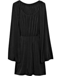 Halston Heritage Cape-style Mini Dress - Lyst