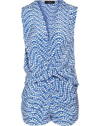 Thakoon Addition Printed Silk Playsuit - Lyst