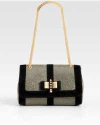 Christian Louboutin Sweet Charity Glitter & Suede Shoulder Bag - Lyst