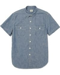 J.Crew Short Sleeve Chambray Shirt - Lyst