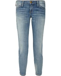 Current/Elliott The Crop Skinny Mid-rise Jeans - Lyst
