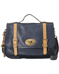 Fossil - Vintage Re Issue Leather Messenger Bag - Lyst