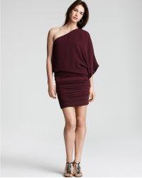 Alice + Olivia Russo One Shoulder Ruched Dress - Lyst