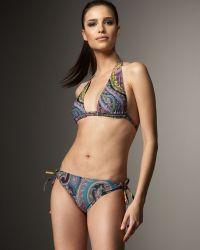 Etro - Paisley Halter Bikini - Lyst