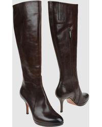 Santoni High-heeled Boots - Lyst