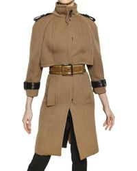 Burberry Prorsum Double Wool Twill Coat - Lyst