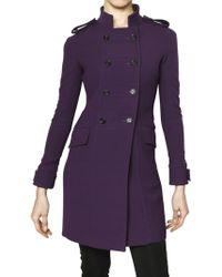 Burberry Prorsum Dry Rounded Hand Wool Coat - Lyst
