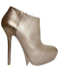 Camilla Skovgaard 140 Mm Calfskin and Metallic Goat Boots - Lyst