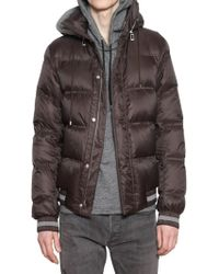 Dior Homme - Hooded Nylon Down Jacket - Lyst
