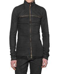 Gareth Pugh - Cross Zipped Stretch Denim Jacket - Lyst