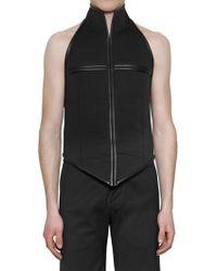 Gareth Pugh - Stretch Wool Bonded Neoprene Vest - Lyst