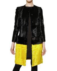 Giambattista Valli Mink Waist and Lambs Fur Coat - Lyst