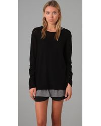 T By Alexander Wang Loose Knit Pullover - Lyst