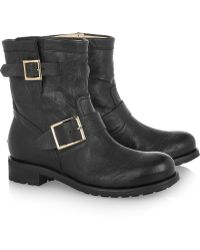 Jimmy Choo Youth Leather Biker Boots - Lyst