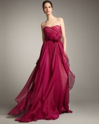 Notte by Marchesa Strapless Full-skirt Gown - Lyst