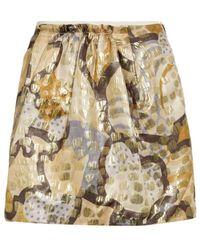 See By Chloé Jacquard Mini Skirt - Lyst