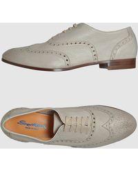 Santoni Laced Shoes - Lyst