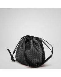 Bottega Veneta Nero Intrecciato Nappa Cross Body Bag - Lyst