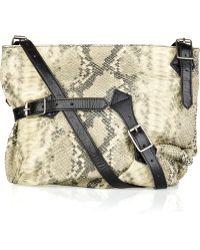 Foley + Corinna   Bucklette Python-embossed Leather Shoulder Bag   Lyst