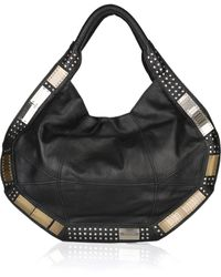 Foley + Corinna Metal-Embellished Paneled Leather Hobo Bag - Lyst