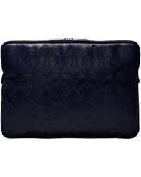 Liberty - 13 Inch Ianthe Embossed Leather Sleeve in Navy - Lyst