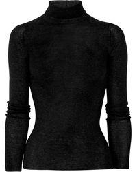 Gucci Fine-Knit Wool Turtleneck Sweater - Lyst