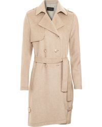 Thakoon Belted Trench beige - Lyst