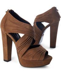 KG by Kurt Geiger Juliet Platform Sandals – Taupe - Lyst