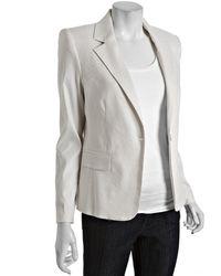 Alice + Olivia Pale Stone Linen-cotton Kim Structured Blazer - Lyst