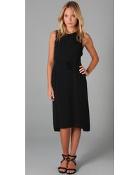 Max Azria - Crepe Dress with Gauze - Lyst