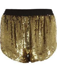 Ashish Sequin Disco Shorts - Lyst