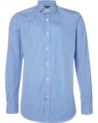 707adbe2 Ralph Lauren Black Label - Narrow Bengal Stripe Shirt - Lyst