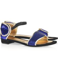 Vionnet - Sequined Suede Sandals - Lyst