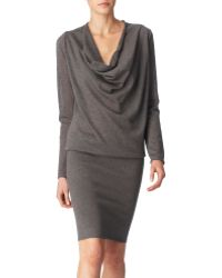 Donna Karan New York Draped Neck Cashmere Dress - Lyst