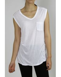 T By Alexander Wang V-Neck Pocket Tee - Lyst