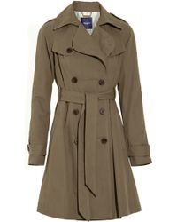 Gryphon - Pleated Cotton-blend Trench Coat - Lyst