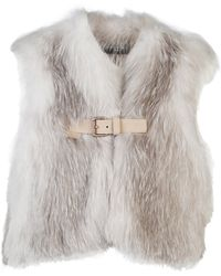 J. Mendel - Collarless Fur Vest - Lyst