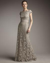 Tadashi Shoji Off-the-shoulder Lace Gown - Lyst