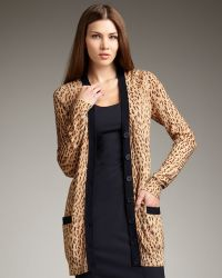 Rachel Roy - Long Cheetah-print Cardigan - Lyst