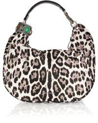 Jimmy Choo Solar Leopard-print Calf Hair Hobo Bag - Lyst
