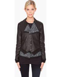 Thakoon Layered Leather Jacket - Lyst