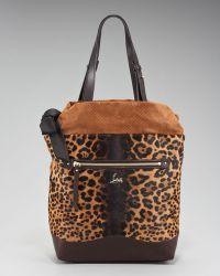 Christian Louboutin Pola Leopard-print Tote - Lyst