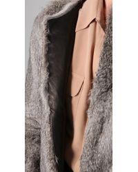 Hanii Y - Rabbit Fur Jacket - Lyst