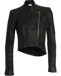 Helmut Lang Cropped Moto Jacket - Lyst