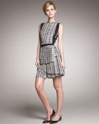 Bottega Veneta Layered Plisse Skirt Dress - Lyst