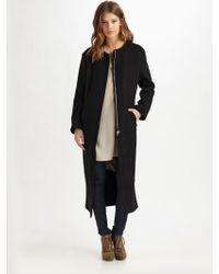 Acne Studios Wool Fleece Jacket - Lyst