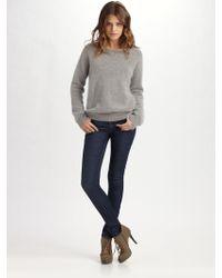 Acne Studios Oversized Angora Sweater gray - Lyst