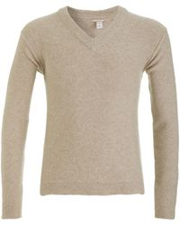 Massimo Alba Chunky V-neck Sweater - Lyst