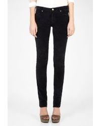 MiH Jeans Oslo Midrise Velvet Skinny Jeans - Lyst